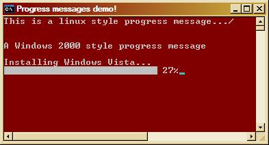 Console progress bars demo